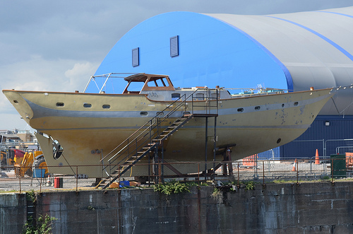 Yacht in re-build